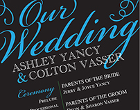Vasser Wedding Programs