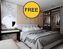 FREE Interior Scene Bedroom 221