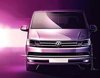 Volkswagen T6 press sketches...