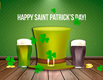 Free Motion Graphics Background - Happy Saint Patrick's