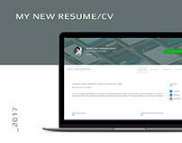 MY NEW RESUME/CV
