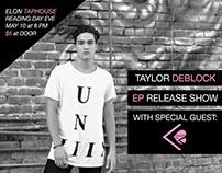 """Taylor DeBlock """"EP Release Show"""" Flyer"""