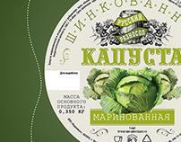 Label pickled cabbage