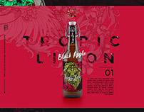 Beer brand concept The Tropic Lion