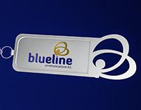 Blueline Key Ring
