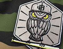 Baseball Owl Patch