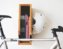 Berlin wooden bicycle shelf / rack