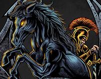 Dark Horse Emblem Logo Design