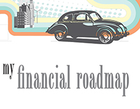 Financial Roadmap Brochure Template Design
