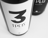 TREIS / WINE LABEL