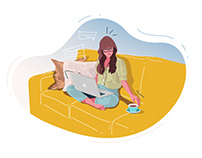 Work at home Illustration-03