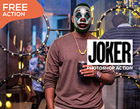 Freebie Joker Face Effect Photoshop Action