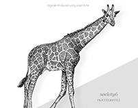 Nature Drawings 01 : Giraffe / Magpie / Owl