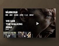 The Walking Dead Website Interface
