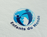 """Enfants du Monde asbl"" logo and website"