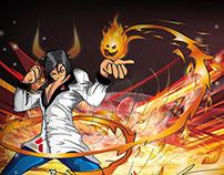 Character design fire manipulator
