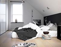 Swedish Style Bedroom - CGI