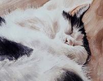 Twinx Sleeping- Watercolour