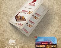 Assado Steak House Broşür Tasarımı