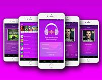 2018 Best Inspirational Music App UI – Music Designs –