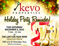 Holiday Party Invites for Kevo