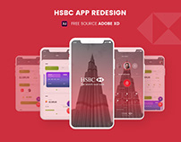 HSBC Unofficial App Redesign | Free Adobe XD Source