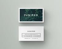 J U N I P E R Business Card