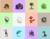 GO Monsters Characters Illustration Design
