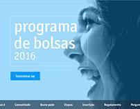 Hotsite - Fundação Estudar - Programa de Bolsas 2016