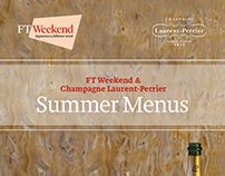 FT Weekend & Laurent-Perrier Summer Menus supplement