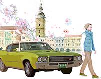 汽车广告画