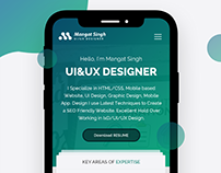 Personal Resume I Phone X Mobile App For UI/UX Designer
