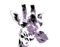 Giraffe pop art I Photography