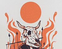 """The Cattle Must Rise"" print"