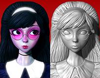 Pink Glasses / 3d Sculpt / Ilya Kuvshinov concept art