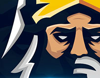 IMPERIAL GAMERS Mascot Logo