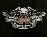 Custom-made coaster set; Harley; USD $10; Item #100-6