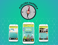 Diseño UI/UX aplicación Xplora Mapper 2017