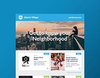 Neighborhood Event Newsletter Design
