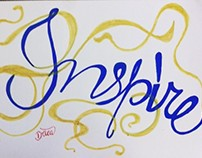 Inspire Typography hand made