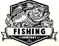FISHING EVERYDAY T-SHIRT DESIGN