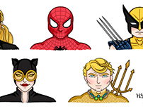 SUPERHEROES - Marvel and DC Characters Video