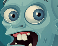 Scared zombie