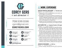 Corey Gers Resume