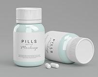 Pills Bottle Mockup