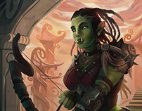 Orc Hunter - BLAS rpg illustration
