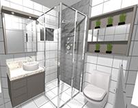 Banheiro Scheila Móveis sob medida