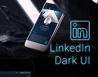 LinkedIn Dark UI (concept redesign)