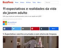EXPECTATIVA X REALIDADE - Campanha Buzzfeed