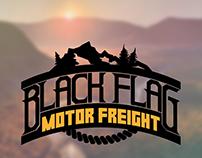 Black Flag Motor Freight Logo